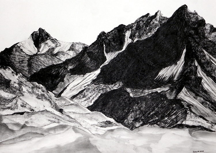 Roswita Busskamp drawing The Andes