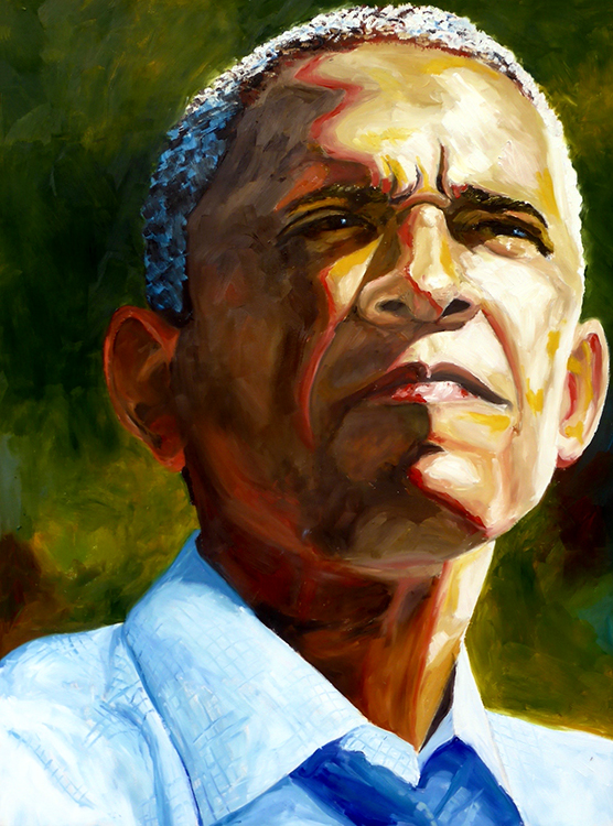 Roswita Busskamp painting Obama