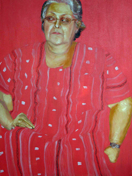 Roswita Busskamp painting Sue in Red